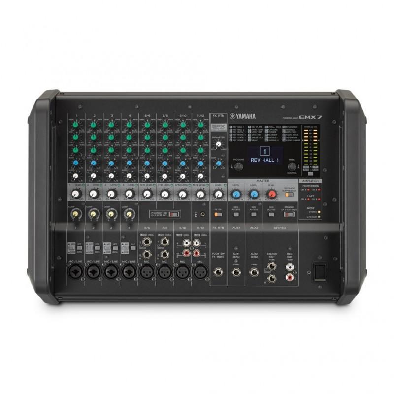 Console de mixage amplifi e yamaha emx7 pour 540 00 planetsono - Table de mixage amplifiee yamaha ...
