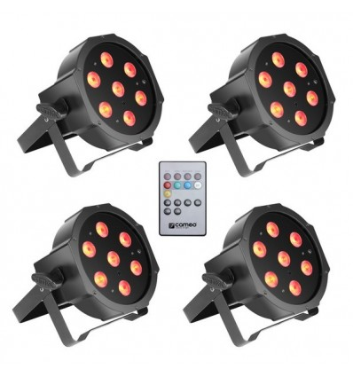 Pack projecteur à led Cameo FLAT PAR CAN TRI 3W IR SET
